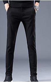 男性用 ベーシック プラスサイズ チノパン パンツ - ソリッド ライトグリーン