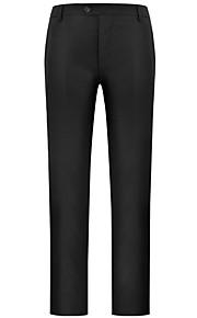 Муж. Классический Костюм Брюки - Однотонный Черный