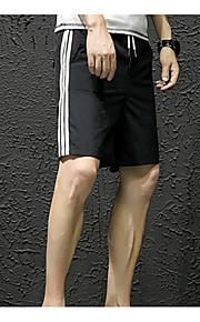 男性用 アジア人サイズ ショーツ パンツ - カラーブロック ホワイト