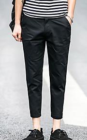 Erkek Büyük Bedenler Chinos Pantolon - Solid Açık Mavi