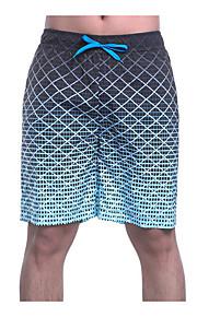 男性用 スリム スウェットパンツ / ショーツ パンツ - カラーブロック ブルー