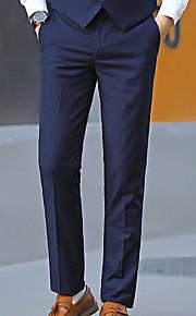 男性用 ベーシック プラスサイズ スーツ パンツ - ソリッド ルビーレッド