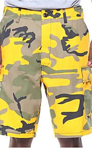 男性用 ストリートファッション アジア人サイズ ショーツ パンツ - カモフラージュ ピンク
