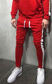 男性用 活発的 / ベーシック チノパン / スウェットパンツ パンツ - ソリッド ブラック