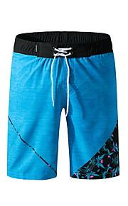男性用 ブルー ブラック スイミングトランクス ボトムス スイムウェア - 幾何学模様 XL XXL XXXL ブルー