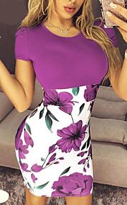 женское платье выше колена фиолетовое синее зеленое s m l xl