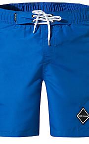 男性用 ブルー ホワイト ブラック スイミングトランクス ボトムス スイムウェア - ソリッド XL XXL XXXL ブルー