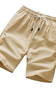 Erkek / Kadın's Temel Chinos / Şortlar Pantolon - Solid Havuz