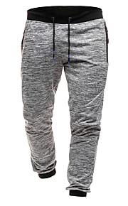 男性用 ベーシック / ストリートファッション チノパン / スウェットパンツ パンツ - ソリッド ダックグレー