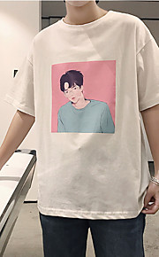 男性用ルーズTシャツ - ラウンドネックの肖像