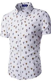 男性用 シャツ 幾何学模様 コットン / 半袖
