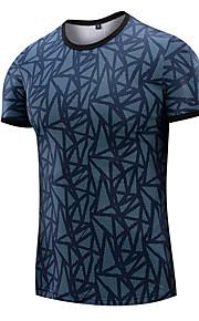 男性用 プリント Tシャツ 幾何学模様