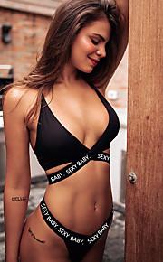 女性用 スポーティー ベーシック ホワイト ブラック ソング タンキニ スイムウェア - レタード バックレス XL XXL XXXL ホワイト