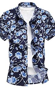 男性用 プラスサイズ シャツ フラワー
