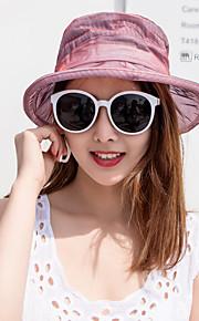Жен. Kentucky Derby Активный Классический Симпатичные Стиль Широкополая шляпа Шляпа от солнца Полиэстер Сетка,Однотонный Цветочный принт Все сезоны Серый Лиловый Винный