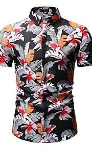 Hombre Camisa Geométrico Negro XL