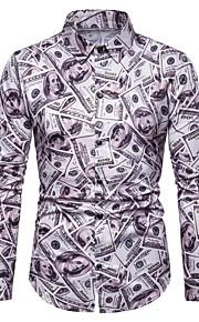 Skjorte Herre - Grafisk, Trykt mønster Regnbue XL