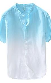 Hombre Camisa Bloques Verde Trébol XL