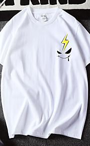 Hombre Estampado Camiseta Gráfico Blanco XL