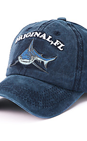 Unisex Algodón Poliéster Gorra de Béisbol Sombrero para el sol-Básico Bloques Todas las Temporadas Azul Marino Azul claro Caqui
