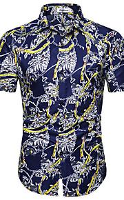 Муж. Рубашка Геометрический принт Темно синий XL