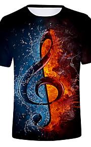 Miesten Color Block T-paita Musta XXL