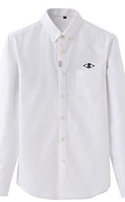Heren Overhemd Effen Wit XL