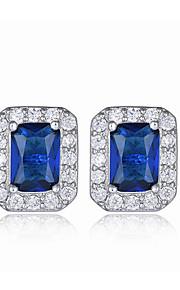 Dámské Modrá Akvamarín Ozdobný Peckové náušnice Náušnice láska Vintage Sladký Cute Style Šperky Modrá Pro Svatební Párty Denní 1 Pair