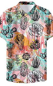 Муж. Рубашка Графика Цвет радуги XL