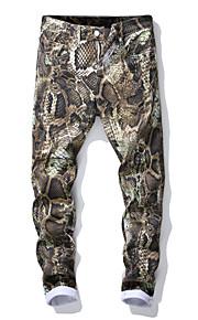 Hombre Punk & Gótico Pantalones tipo cargo Pantalones - Animal Verde Trébol