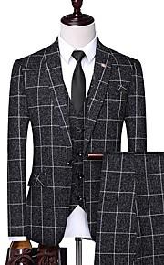 Hombre trajes Solapa Redonda Poliéster Blanco / Negro / Gris XXL / XXXL / XXXXL