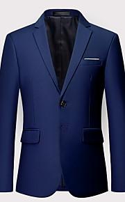 Hombre Blazer Solapa de Pico Poliéster Wine / Azul claro / Azul Real XXXXL / XXXXXL / XXXXXXL