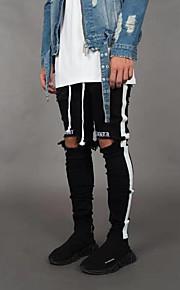 Ανδρικά Βασικό / Κομψό στυλ street Jogger Παντελόνι - Μοτίβο / Με Μοτίβο Μαύρο