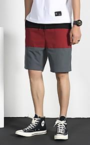 Hombre Deportivo Shorts Pantalones - Un Color / A Rayas Wine