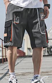 Муж. Классический / Армия Чино / Шорты Брюки - С принтом / Разные цвета Черный