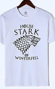 Ανδρικά T-shirt Ζώο / Γράμμα Κρασί XL