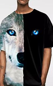 Ανδρικά T-shirt Ζώο Μαύρο XXL