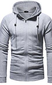 Hombre Casual / Básico La chaqueta con capucha Un Color