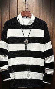 Муж. Пуловер Черный / Розовый L / XL / XXL