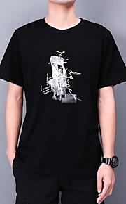 Ανδρικά T-shirt Γεωμετρικό Λευκό XL