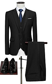Hombre trajes, Un Color Solapa de Pico Poliéster Amarillo / Wine / Azul claro XXXXL / XXXXXL / XXXXXXL