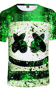 Děti Chlapecké Aktivní Tisk Krátký rukáv Bavlna / Spandex Košilky Trávová zelená