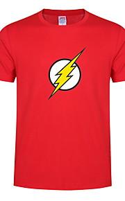 camiseta delgada de hombre - cuello redondo geométrico