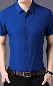 Skjorte Herre - Ensfarget Svart XL