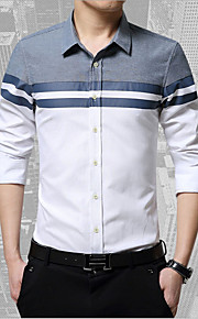 Heren Overhemd Effen Wit XXL