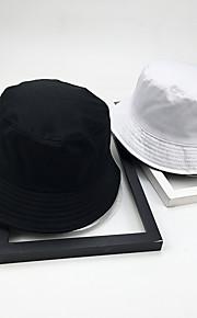 Unisex Základní Se širší krempou-Jednobarevné Polyester Celý rok Bílá Černá