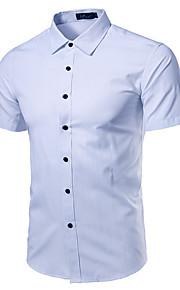 Heren Overhemd Effen Lichtgroen XXXL