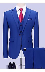 Herrn Anzüge, Solide Hemdkragen Polyester Blau XXXXL / XXXXXL / XXXXXXL