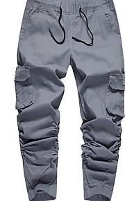 Hombre Deportivo Jogger Pantalones - Un Color Wine