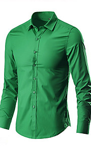 Skjorte Herre - Ensfarget Lysegrønn XXXL